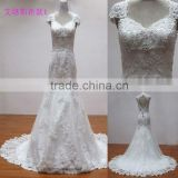 Modern design import heavy lace and crystal mermaid alibaba dresses chinese wholesale wedding dresses