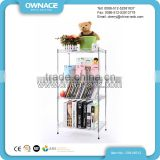 Household Kitchen Chrome Metal Wire Shelving