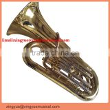 3-key piston valve tuba entry model musical instrument
