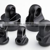 cnc machining centre hardware parts, cnc turning parts, black matt anodized custom parts