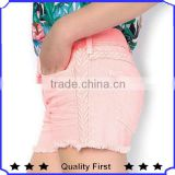 Women Fashion Design Casual Shorts Leisure Fresh Brilliant Scrap Jeans 2013 2014 Fashion Hollowout Sexy Tight Jeans