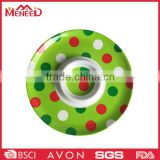 Custom logo festival use ceramic-like das Tablett round polka dot melamine divided dishes