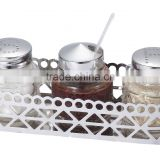 Hot selling seasoning shakers for salad dressing bottle set