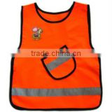 supply high quality orange safety vest with pockets
