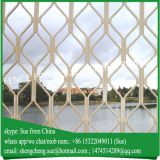 Oxidized bronze diamond grille mesh aluminium window guangzhou