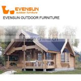 Wholesale price Solid Decorated Luxury Wooden Prefab Cottage for Accommodation