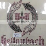 custom all kinds of text and patterns hot fix rhinestone made in china