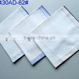 100% Cotton white handkerchief