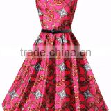 Walson african wax print fabric dresses ladies designer clothes manufacturer from China