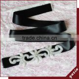 YXBB71 New Glaring Bridal Belts wedding belt With Diamond Sashes Rhinestone Bridal Belts Bead Sash