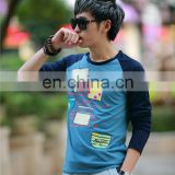 Peijiaxin Fashion Design Men Cheap Wholesale Plain Bulk Long Sleeve T shirts