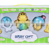Plastic baby gift set rattle toys,baby shaking toys,baby bell toys,baby rattle squeaky toy