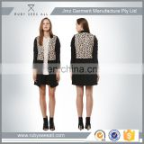 leopard print faux leather sleeves ladies long coat australia design blazer clothing women's long coat with lining