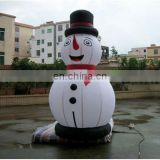 Inflatable snow man character shape