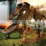 Museum quality prehistoric dinosaur skeleton model