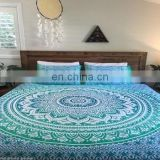 Green Color Mandala Double Size Douvet Cover set