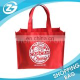 Wholesale Promotional Big Capacity 6 or 4 Bottles Foldable Reusable Custom Wine Bag Non Woven Wine Bag