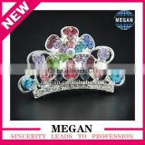Princess Crystal Hair Crown Rhinestone Tiara Children Hair Comb wholesale