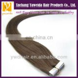 Real remy hair hand tied PU skin weft seamless hair extensions