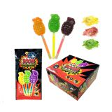 Halal Boom Shape Lighting Lollipop And Fruity Popping Candy