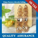 W1030 big bead chunky crystal earrings,chunky crystal earrings for lady,chunky crystal earrings
