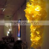 Hand Blown Glass Flowers Lobby Wall Decoration
