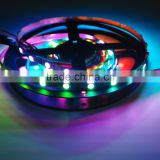 5M Built-in WS2812B Black board LED strip,300 LED 300 pixel matrix LED strip Not waterproof