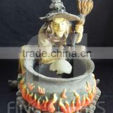 Resin sorcerer statue tabletop water fountain