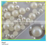 Hot Fix Half Round Pearl White Plastic Pearl Beads                                                                         Quality Choice