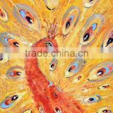 Simple Beautiful Design Handmade Peacock Animal Oil Painting on Canvas for Children's Room Deoration