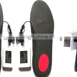 Insole Heater of Remote Li-battery Powered with USB Cable