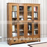 Y-1491 New style customized cabinet wooden bookcase with glass doors
