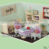 DIY 3D doll house log cabin,simulation house toys,wooden house toy