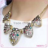 2015 fashion Korean Style Short Exaggerated Rhinestone Necklace Alloy Fashion Women Jewelry