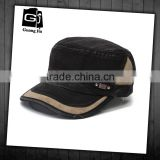 Top quality low price wholesale adjustable back closure vintage washed cotton india flat top manufactures caps military cap