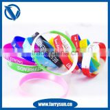 12 years manufacturer silicone rubber jingle bell bracelet/ transparent silicone bracelet