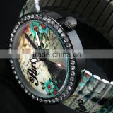 Limited edition ladies watches,beautiful dial watch,women flower wrist watch charming LD139