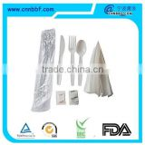 wholesale individually wrapped plastic cutlery set