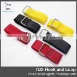 coloful adjustable hook and loop strap with metal buckle