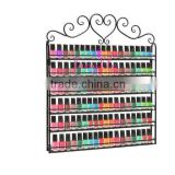 New metal flower square nail polish display on the wall