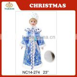 58 CM Latest Blue&White Ceramic Christmas Princess,Elegant Princess Figurine