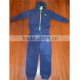 Custom Made in China Cheap baby boys velour tracksuits suit sport