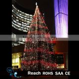 Artificial christmas tree / Christmas tree lighting with colourful light for outdoor decoration / Christmas ornament