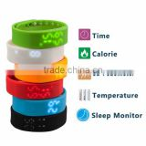 W2 Wristband Smart USB Watch Bracelet LED Wrist Band Waterproof for Samsung iPhone IOS Android