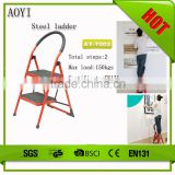 Red and strong steel use foruse for domestic or industrial 2 step folding ladder chair AY-T002