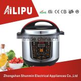 Stainless Steel Rice Cooker 6.0litres/1000watt Multi-Function Pressure Cooker/Electric Domestic Cookware
