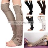 Trendy 2014 winter wholease knit lace women boot cuffs sock