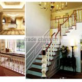 The stair rail accessories with aluminum iron balcony railings design for stairs outside