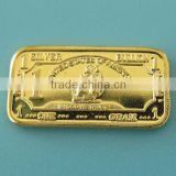 A91 1 Gram 999 Fine Silver Gold Plated Iron Ship Bar
