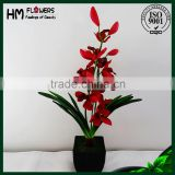artificial orchids latex high quality flower pot